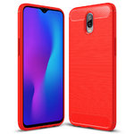 Flexi Slim Carbon Fibre Tough Case for Oppo R17 - Brushed Red